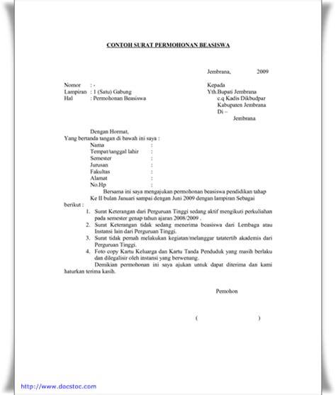 contoh surat permohonan beasiswa contoh surat review ebooks
