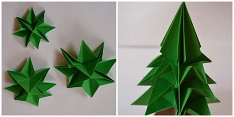 Origami Tree Decorations - december 2013 la