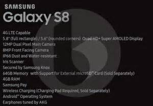 galaxy s specs samsung galaxy s8 release date price specs and features