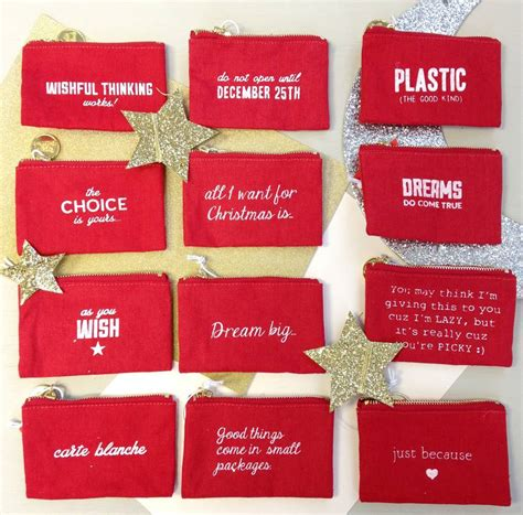 Christmas Money Gift Cards - christmas gift card money zip purse by posh totty designs interiors