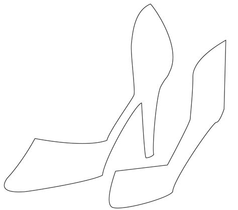 high heel shoe template for card shoe card template tuto carterie high