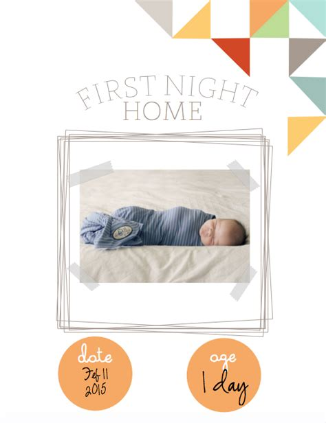baby book cover template documenting baby s firsts with free printables simply