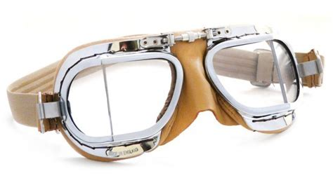 Motorradbrille Halcyon by Oldtimerbrille Halcyon 49 Compact Chrome Rahmen Leder