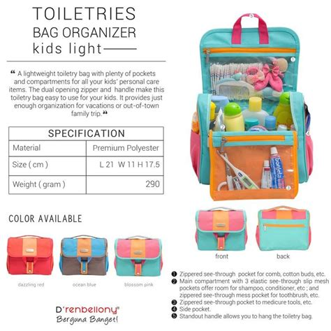 Toiletries Bag Organizer Light Tas Toiletries Travel Bag jual beli d renbellony toiletries bag organizer light