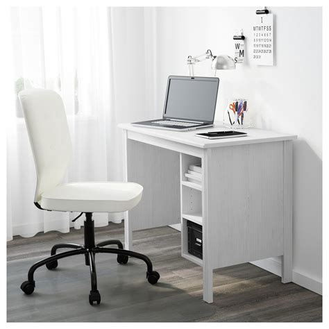 Brusali Desk White 90x52 Cm Ikea Ikea Desk