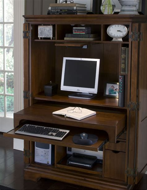 computer armoirs riverside home office computer armoire 4985 signature
