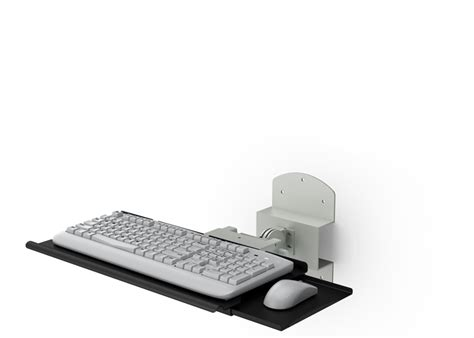 Wall Mount Keyboard Shelf by Wall Mounted Retractable Keyboard Holder With Mouse Tray