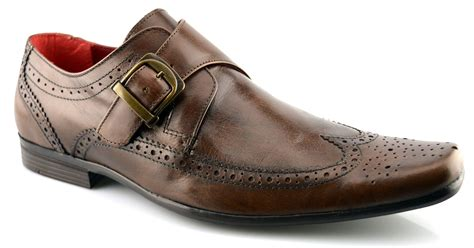 Mens Dress Shoe Size 7 by Mens New Leather Single Monk Brogues Wedding Dress Formal Shoes Size 7 12 Ebay
