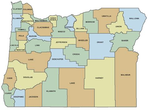 map of oregon by county oregon county map with names memes