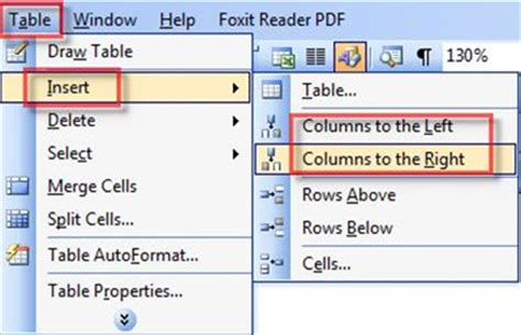 Add New Column To Table by Word Insert Rows And Columns Into A Table In Word