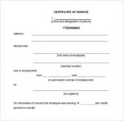 Service Certificate Template For Employees by Sle Certificate Of Service Template 16 Documents In