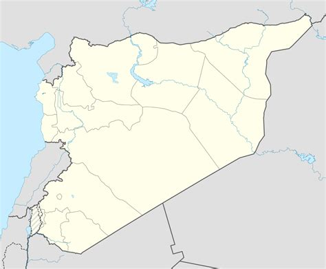 Syria War Template by Template Syrian Civil War Detailed Map
