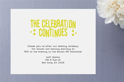 Wedding Announcements After The Wedding by Afterparty Wedding Invitations Ringleader Paper Co