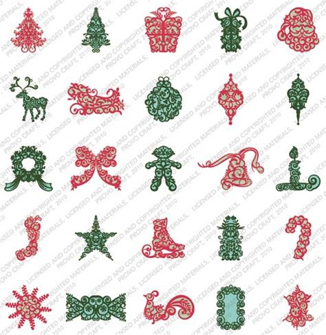 cricut trim the tree cartridge sle scrapbooking