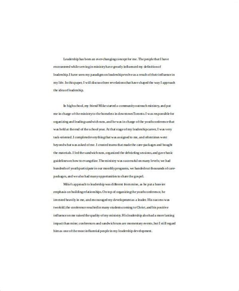 Essay About Leadership In Business by Essay Sle In Word 11 Exles In Word