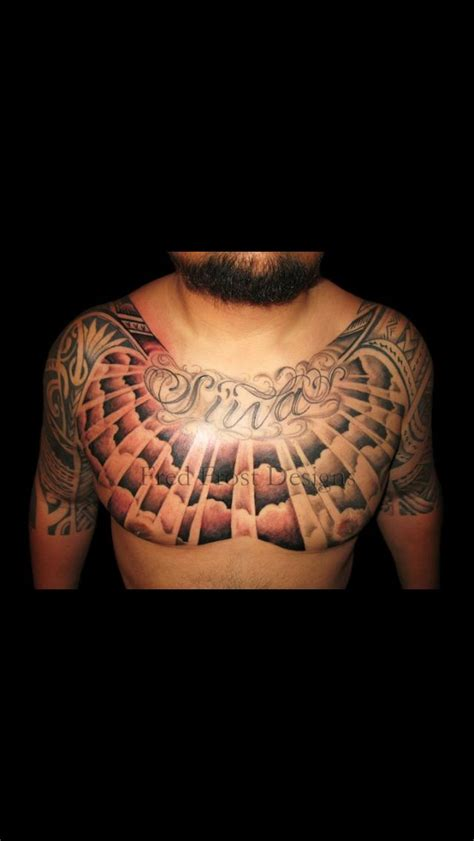 sick chest tattoos sick chest peace by fred polynesian