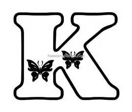 print k letter stencil free stencil letters