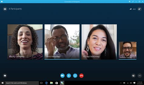 video call layout skype for business gets even better with native