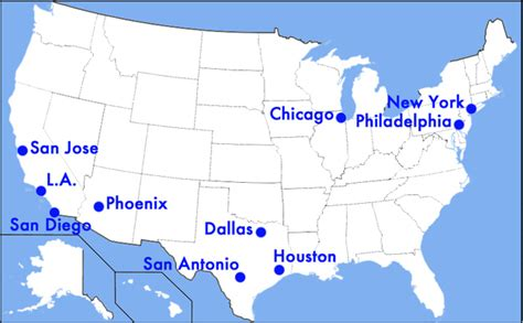 us map with big cities which u s cities are being ignored by tv