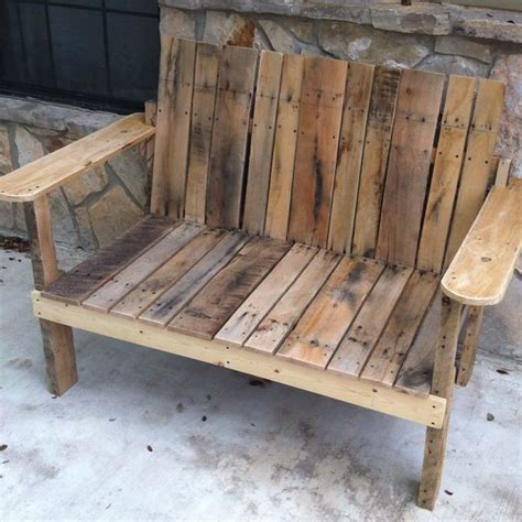 benches made from pallets pallet bench for the home pinterest