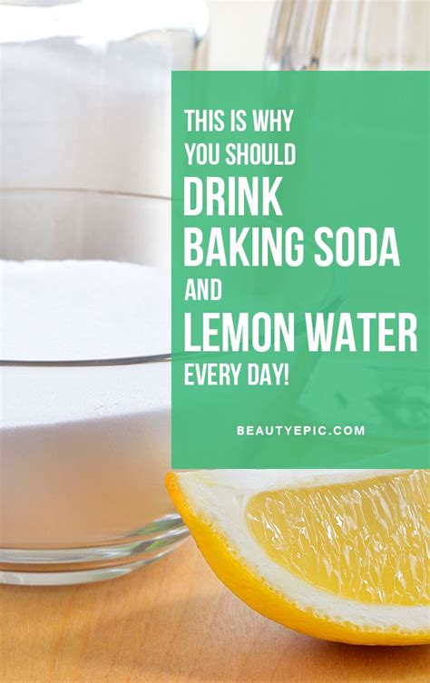 How Often Should U Drink Detox Water by This Is Why You Should Drink Baking Soda Lemon Water