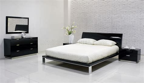black contemporary bedroom furniture lily bedroom by j m black high gloss finish
