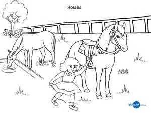 printables colouring pages horses