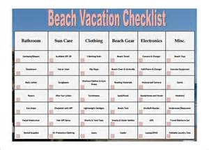 Vacation Checklist Template by Checklist Template 35 Free Word Excel Pdf Documents