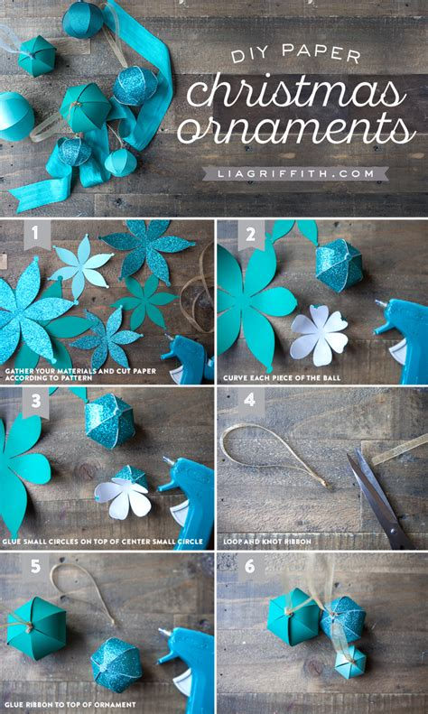 diy decorations construction paper diy paper ornaments lia griffith