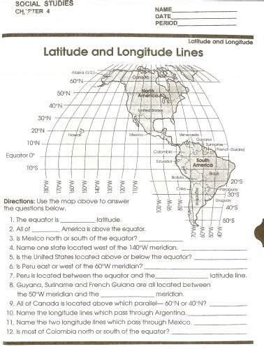 printable latitude longitude ruler latitude and longitude worksheets school social studies