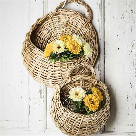 Wicker Wall Decor by Wall Wicker Baskets What S New Home Decor