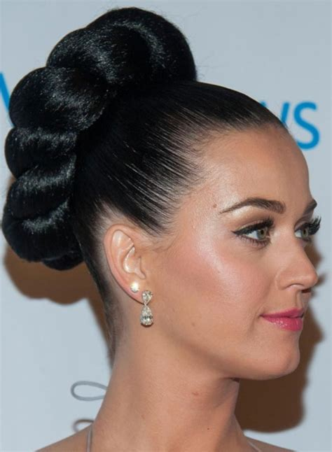 pics of black pretty big hair buns with added hair 50 cute top knot bun hairstyle outfit combos