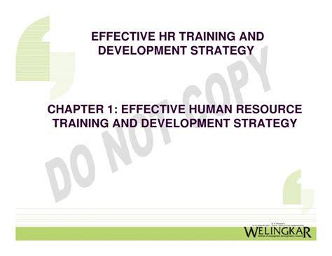 effective hr training development strategies