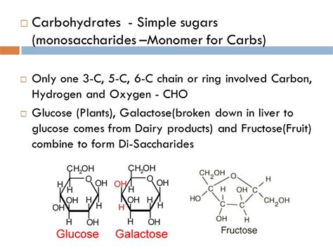 carbohydrates a polymer monomers polymers and macromolecules biomolecules ppt
