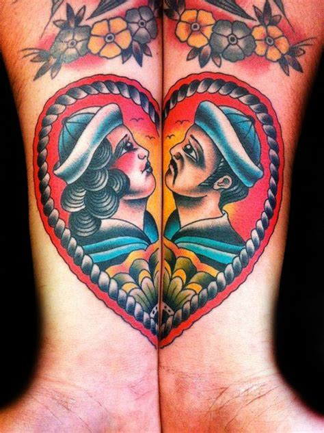 nautical couple tattoos 53 best american traditional images on