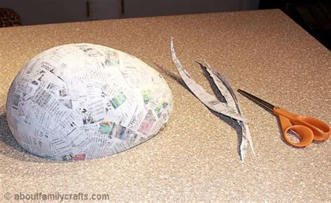 How To Make A Turtle Out Of Paper - paper mache patchwork turtle about family crafts