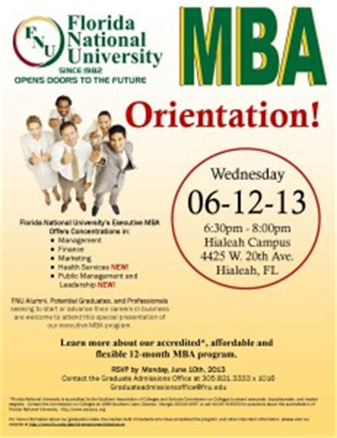 National Mba Cost by Mba Orientation Florida National