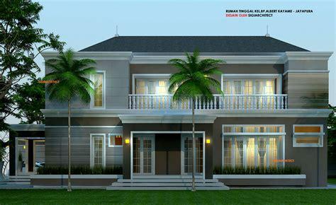design exterior rumah mewah desain villa rumah tropis kolam renang home design