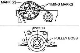 solved timing marks on 1999 mazda protege 1 6 lx fixya