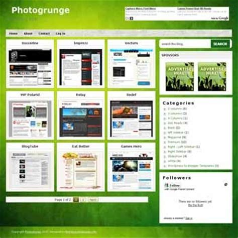 theme blog xml free blog template