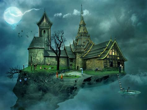 wallpaper cool house wallpaper 3d castle