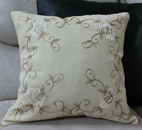 decorative pillow embroidered pillow cover accent decorative