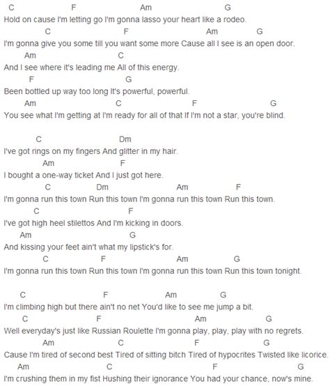 tattoos on this town guitar chords 4 lucy hale run this town chords capo 5 lucy hale