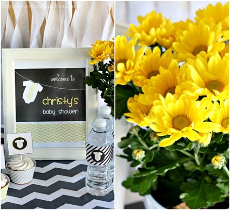 Home Decor Fabric Cheap gray amp yellow baby shower decorating ideas love of