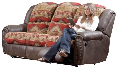 Cover For Reclining Sofa Chelsea Home Yuma Reclining Sofa In Bay Tuscan Espresso Traditional Sofas