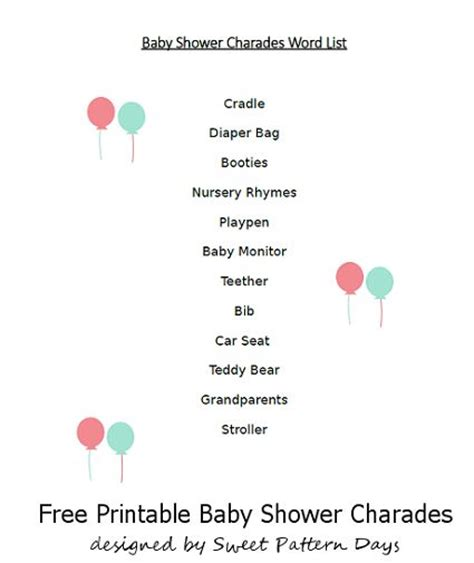 Charades Cards Template by 17 Best Images About Baby Shower On Baby