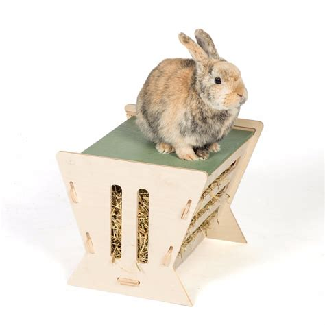 Small Home Animals Pets At Home Small Animal Wooden Hay Feeder And Lookout
