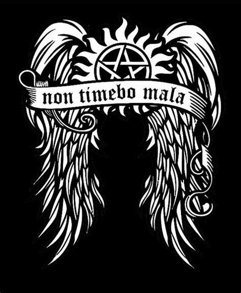 non timebo mala tattoo non timebo mala supernatural t shirt get a