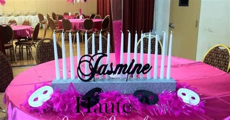 feather centerpieces for sweet 16 masquerade centerpieces for sweet 16 pink black and