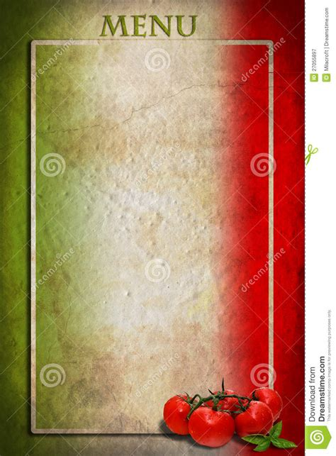 italian menu template free italian flag with tomatoes and frame royalty free stock